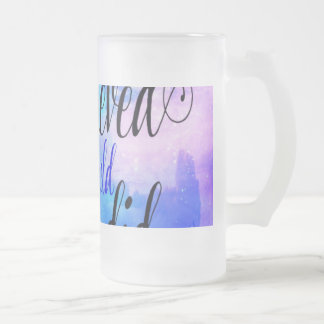 She Believed in Starry Nights Frosted Glass Beer Mug