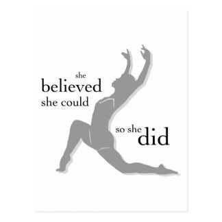She Believed She Could Dance Postcard