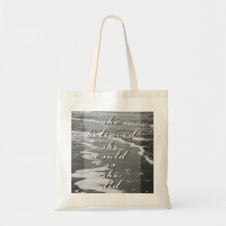 She Believed She Could, So She Did Canvas Bag