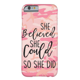 She Believed She Could So She Did Christian Athlet Barely There iPhone 6 Case