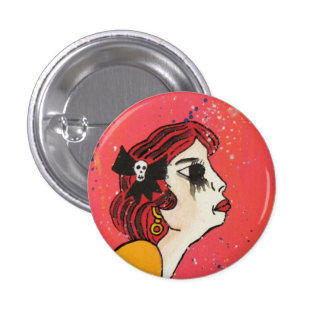 she cries from boredom 3 cm round badge