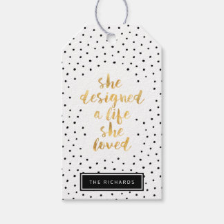 She Designed a Life She Loved with faux gold foil