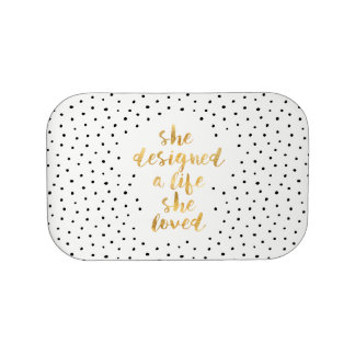She Designed a Life She Loved with faux gold foil Lunch Box