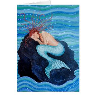 She Dreams Sea Dreams Mermaid Greetings Card
