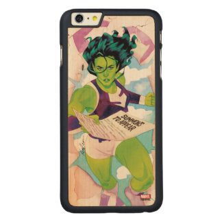 She-Hulk Delivering Summons Carved Maple iPhone 6 Plus Case