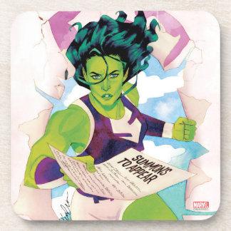 She-Hulk Delivering Summons Coaster