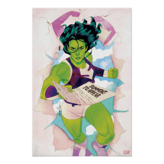 She-Hulk Delivering Summons Poster