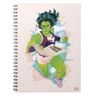 She-Hulk Delivering Summons Spiral Notebook