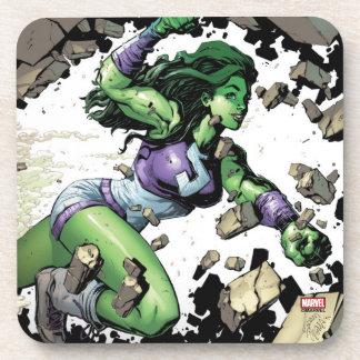 She-Hulk Smashing Through Blocks Coaster
