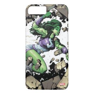 She-Hulk Smashing Through Blocks iPhone 7 Plus Case