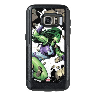 She-Hulk Smashing Through Blocks OtterBox Samsung Galaxy S7 Case