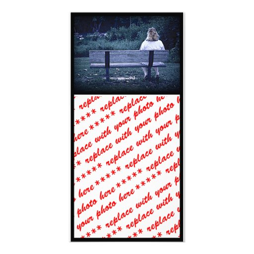 She is Alone on a Park Bench Picture Card