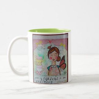 She is Content Two-Tone Coffee Mug