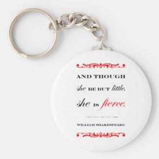 She is Fierce Key Ring