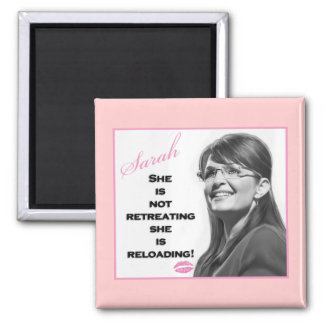 She is not retreating, she is reloading square magnet