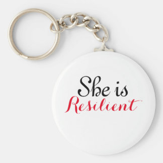 """She is Resilient 2.25"""" Basic Button Keychain"""
