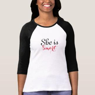 She is Smart Women's 3/4 Sleeve T-Shirt