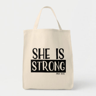 She Is Strong Tote