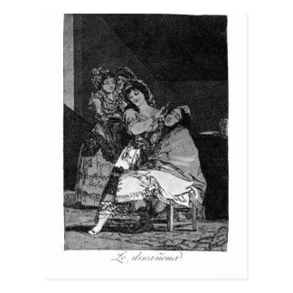 She leaves him penniless by Francisco Goya Postcard