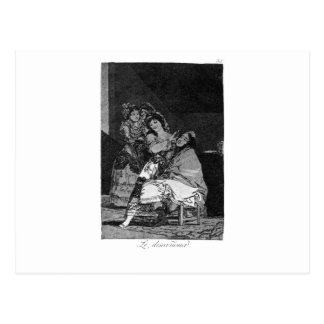 She leaves him penniless by Francisco Goya Postcard
