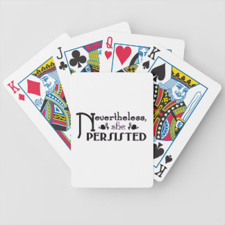 She Persisted Bicycle Playing Cards