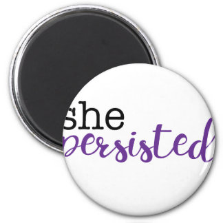 She Persisted (black/purple) Magnet
