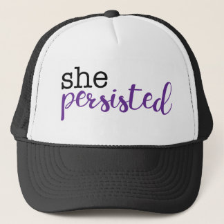 She Persisted (black/purple) Trucker Hat