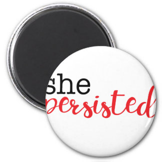 She Persisted (black/red) Magnet