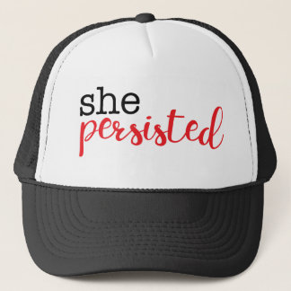 She Persisted (black/red) Trucker Hat