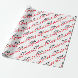 She Persisted (black/red) Wrapping Paper