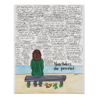 She Persisted (Depression and Anxiety) 11x14 Poster