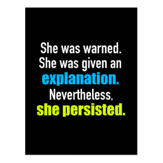 She Persisted Elizabeth Warren Postcard