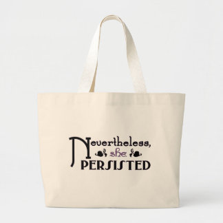 She Persisted Large Tote Bag