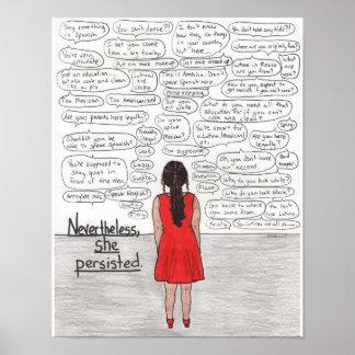 She Persisted (Latina) 11x14 Poster