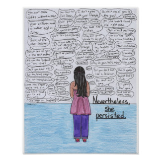She Persisted (Lesbian) 11x14 Poster