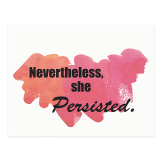 She Persisted Postcard