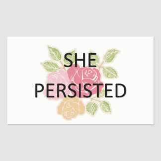 She Persisted Rectangular Sticker