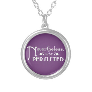 She Persisted Silver Plated Necklace