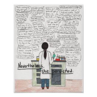 She Persisted (STEM), 11x14 Poster