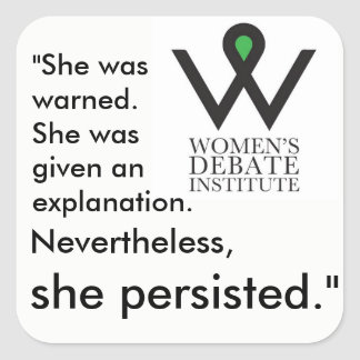 She persisted stickers square