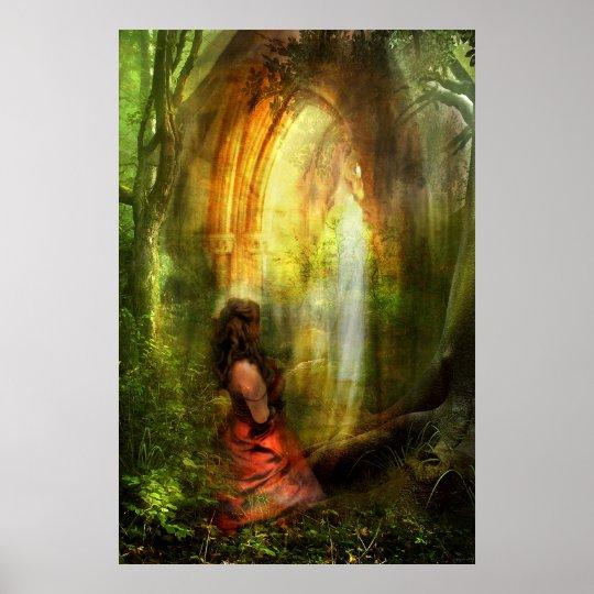 She Prayed with Prayer Poster