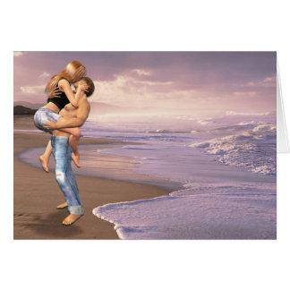 She Said Yes, Beach Kiss Greeting Card