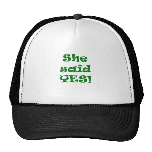 She Said Yes Mesh Hat