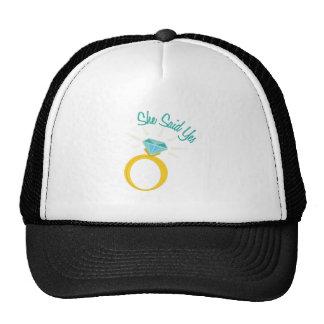 She Said Yes Hats
