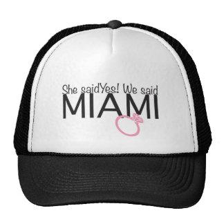 She said yes! We said Miami Bridal trucker hat