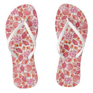 She Sells Sea Shells Flip Flops