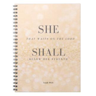 SHE SHALL Notebook Isaiah 40:31