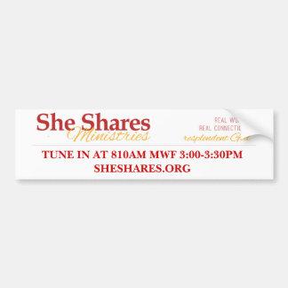 She Shares Radio Bumper Sticker