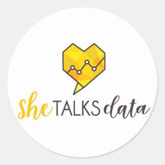 She Talks Data Sticker
