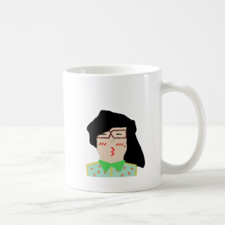 she to hispter to lover funny cartoon basic white mug